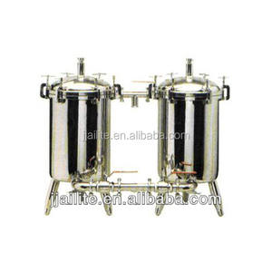 Industri stainless steel ganda filter untuk jus/susu filter mesin