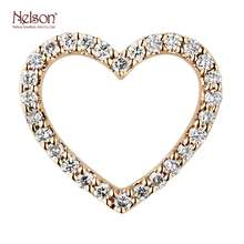 One Of A Kind Fashion 18K White Gold 18K Yellow Gold Anniversary Jewelry Heart Pendant