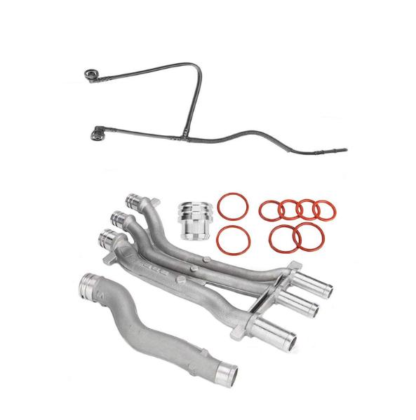 10Pcs Aluminum Coolant Pipe Heater Upgrade Kit For Porsche Cayenne 4.5 V8 03-06