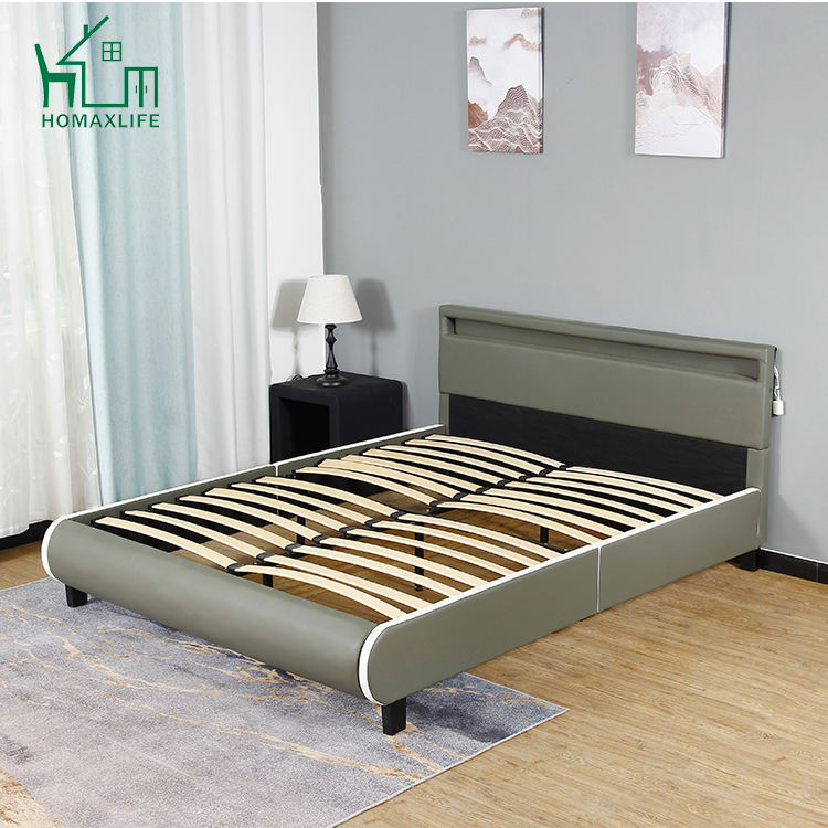 Gratis Monster Rode Moderne Lederen Bed Frame