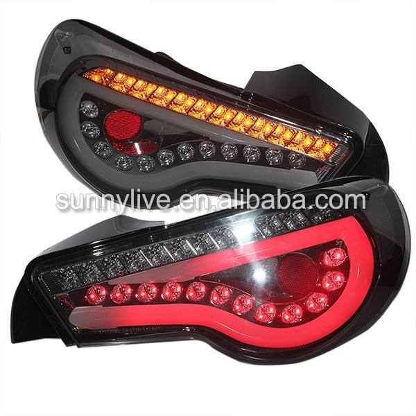 LED Strip Rear Light Black bottom Black surface For Toyota GT86 FT86 2013-2014 year