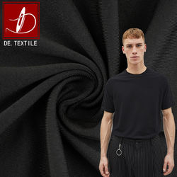 Yarn dyed black polyester spandex 4 way stretch fabric for sports t shirt high fastness