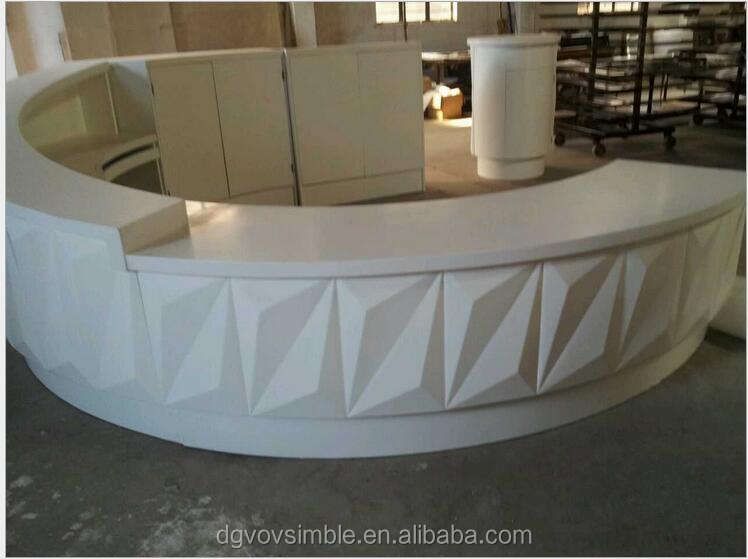 Acrylic solid suface bar Counter top, artificial stone reception desk/ Hotel reception desk