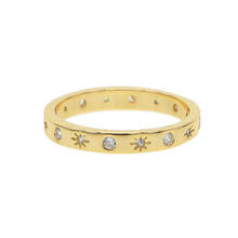 2019 simple women band rings northstar engraved gold plated classic finger ring