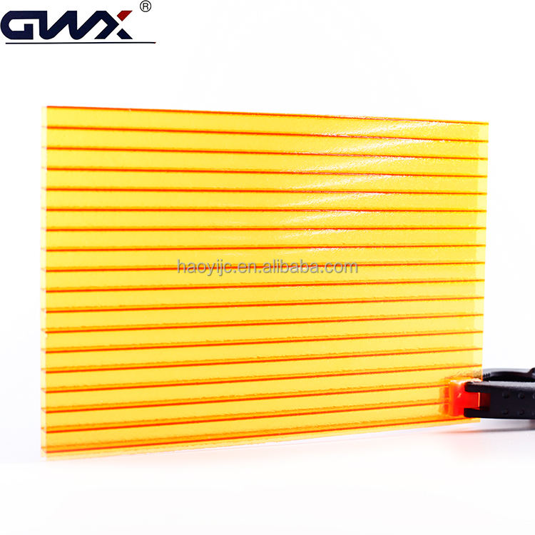 6mm Professional Manufacturer Twin-wall lexan polycarbonate hollow sheet