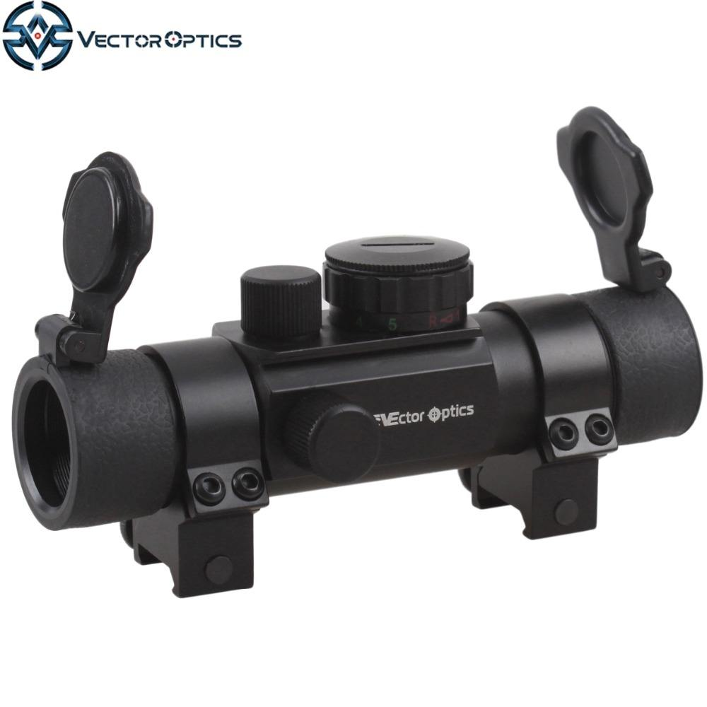 Vector Optics Chimaera 1x30 Caccia Verde e Red Dot Scope Sight con 4 Multi Reitcles 30mm Tessitore o Coda di Rondine Anello montaggio