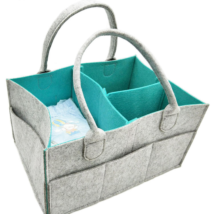 3 apartments pouch Bin Basket Travel Storage tote Bag with handle