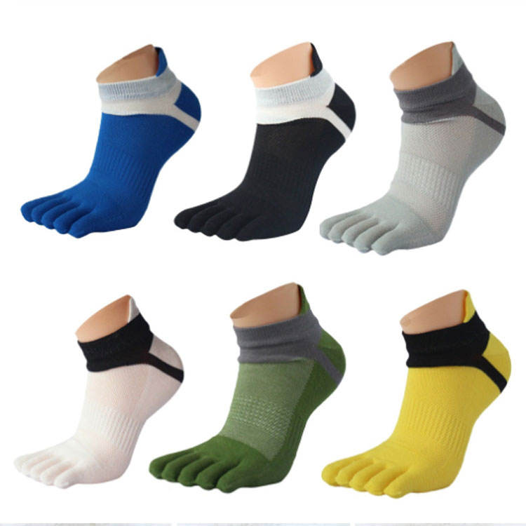 High Quality Athletic Sport Five Toe Low Cut Ankle Running Socks
