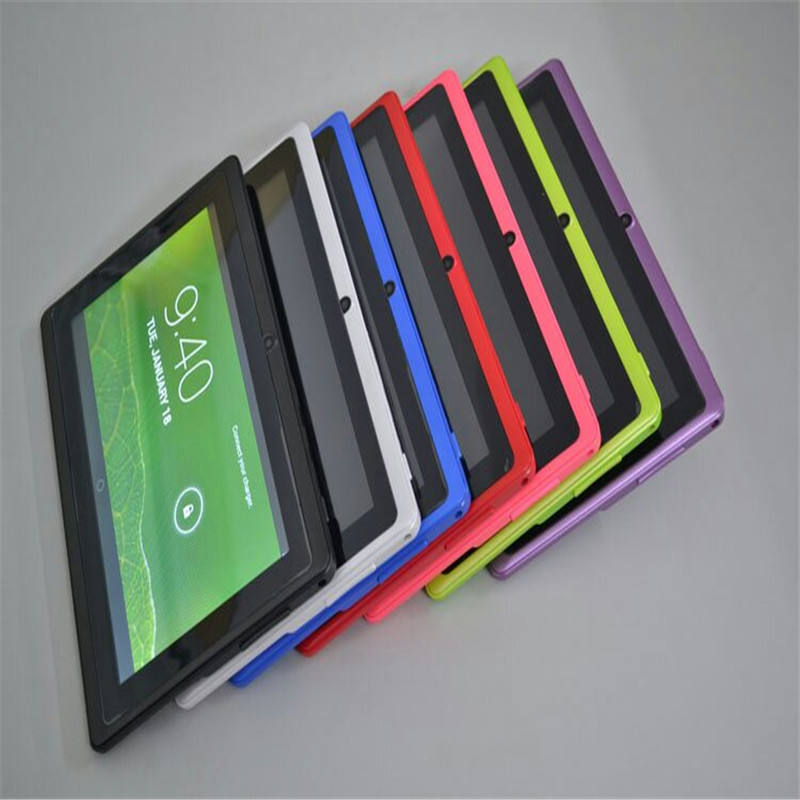6 Kleuren tablet pc 7 inch capacitieve scherm android tablet dual camera 4 GB WIFI