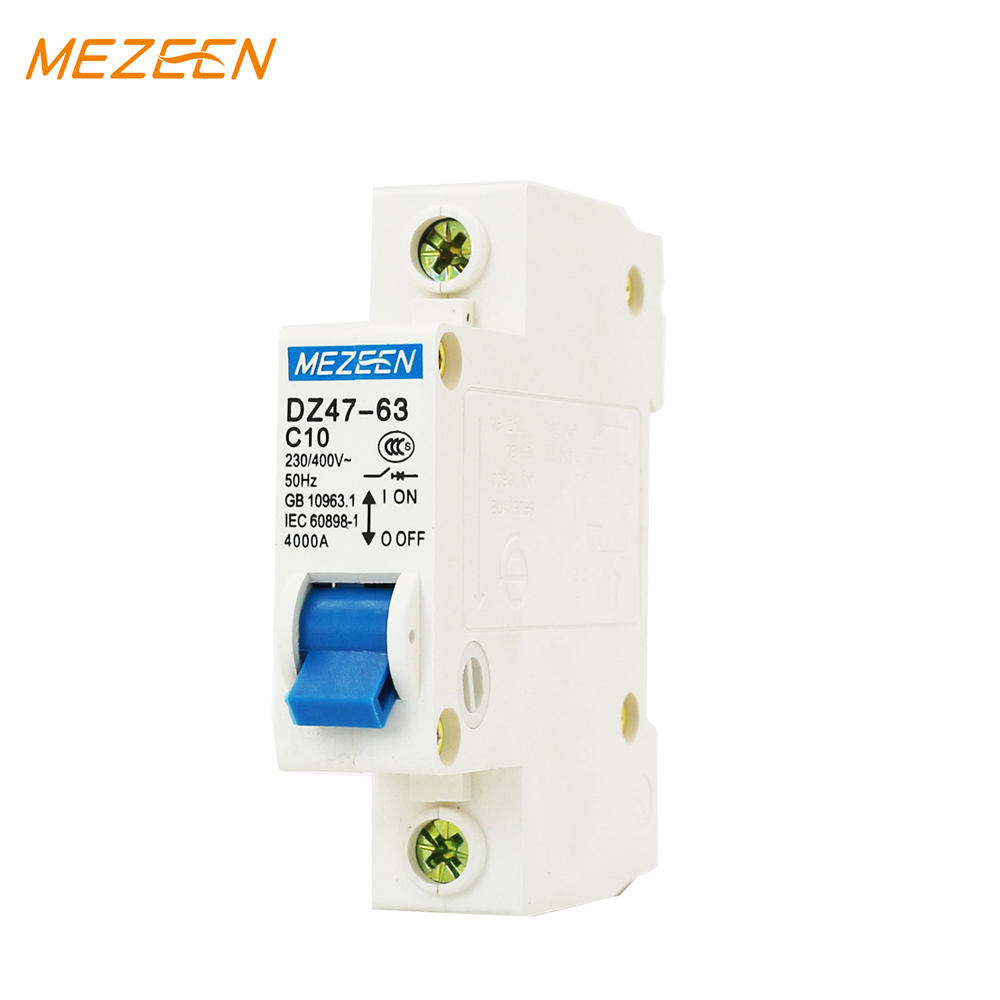 DZ47 type C20 6kA various of mcb ratings miniature circuit breaker mccb