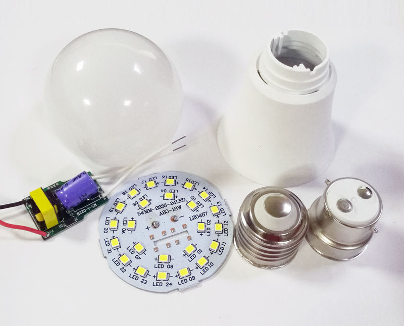 China Supplier Cheap Housing SKD Parts 3W 5W 7w 9w 12w 18w 20W 25W E27 B22 Led Bulb Raw Material