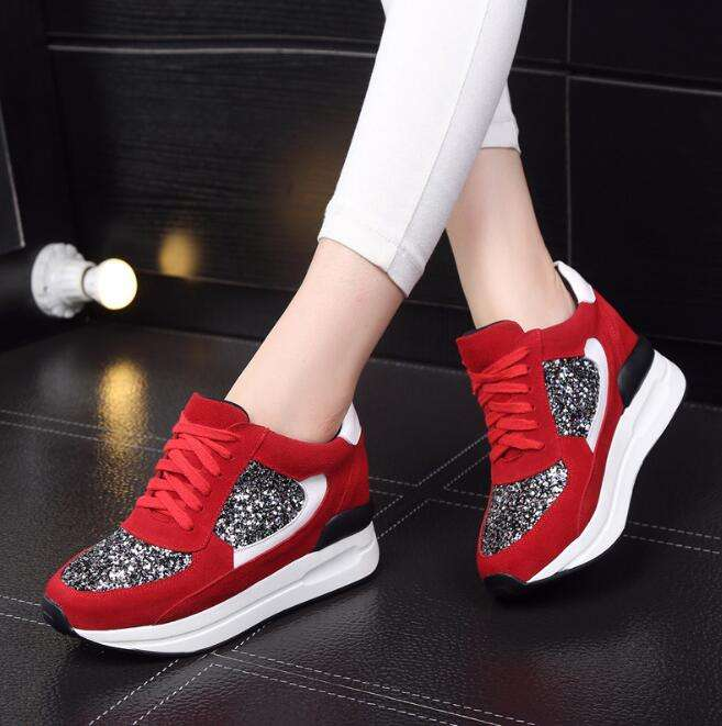 cy30572a Winter Autumn Wedge Fashion Women Casual Shoes Breathable Height Platform Shoes for women