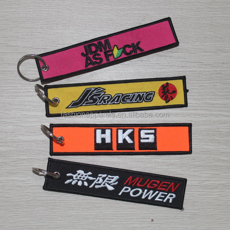 Wholesale Cheap Customized Embroidery Keychain For Promotion