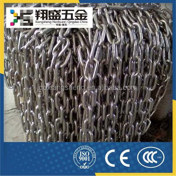 304 Stainless Steel Stainless Steel Large Square Curb Link Chain