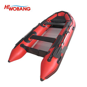 Aluminium floor inflatable boat fishing boat for sale