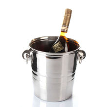 Eco friendly oval galvanized stainless steel beer wine ice bucket