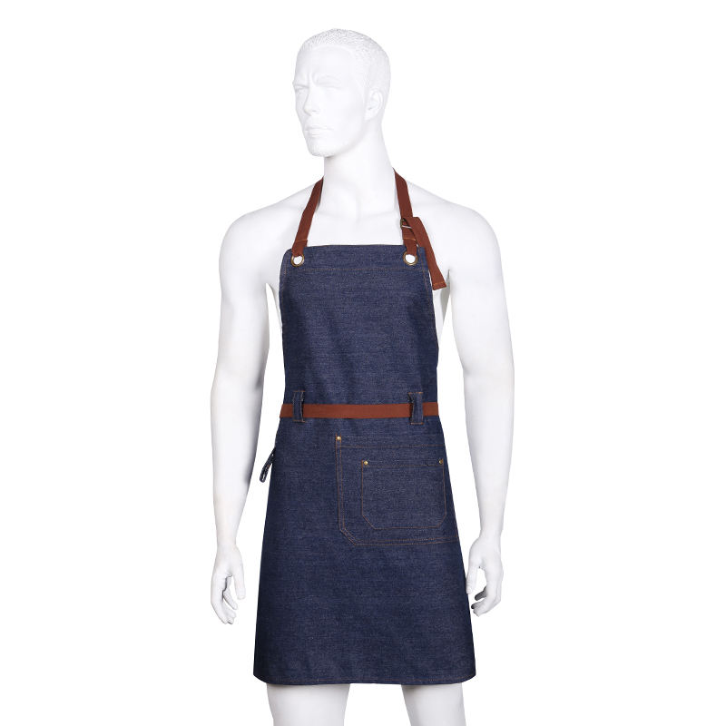 New design cooking specialty BBQ chef denim apron