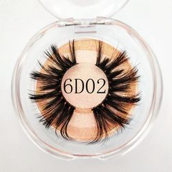 lash 3d wholesale vendor many styles Mikiwi 25mm silk  lash  with clear round box