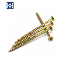 Haiyan bafang pozi double  chipboard  screws self tapping stainless steel  cross recessed countersunk head wood screws