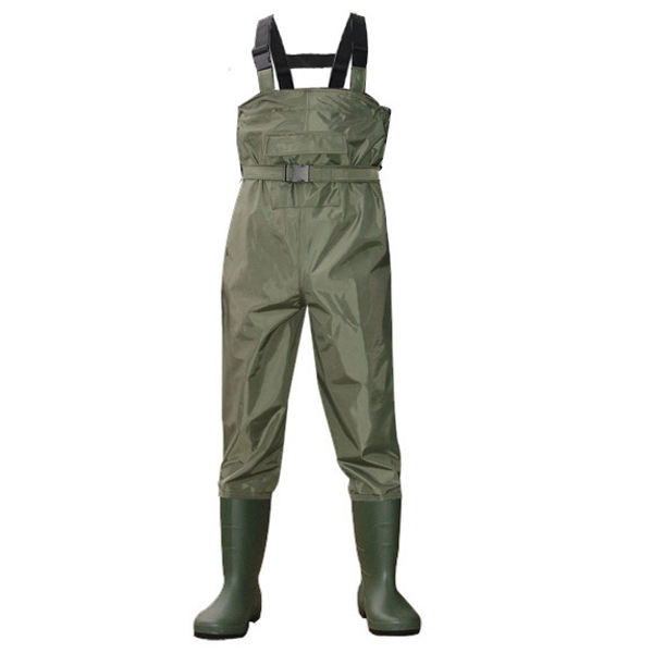 pocket and waist belt Prevent washed away 100% waterproof 70D waterproof Nylon fishing waist chest wader