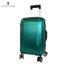 4 airplane wheels pc abs travel trolley luggage bag