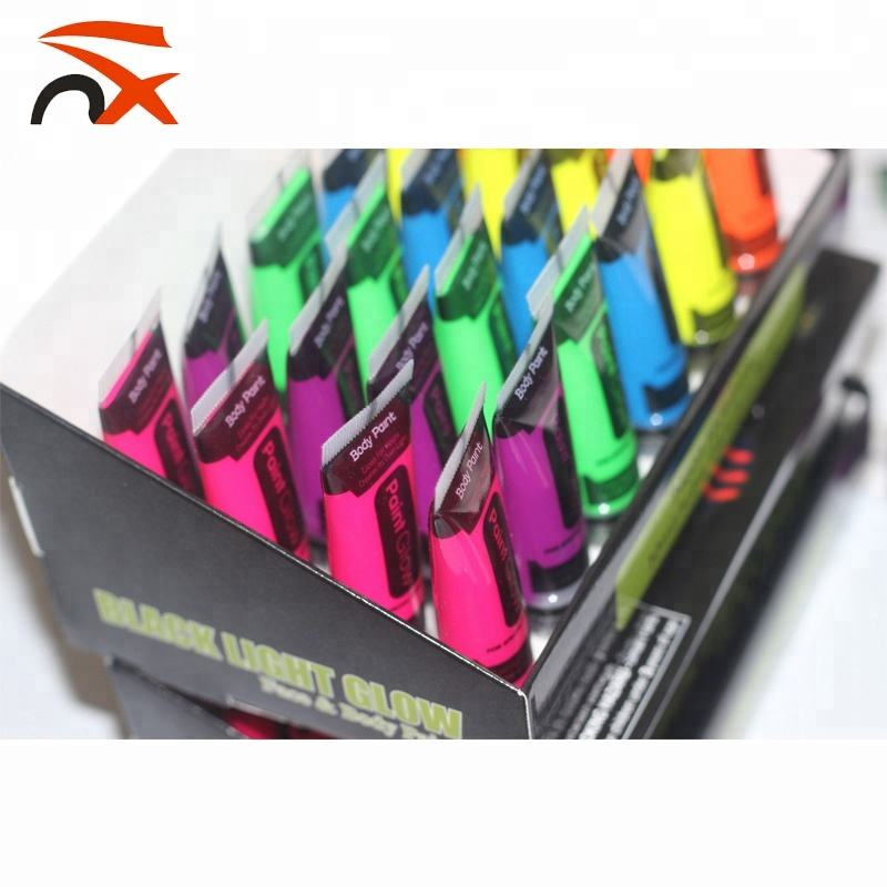 10ml, 25ml 6 Colors Neon Fluorescent UV Glow Blacklight Face and Body Paint