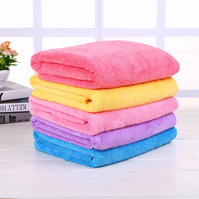 High Quality China Manufacture Hotel Coral Fleece Large Bath Towel