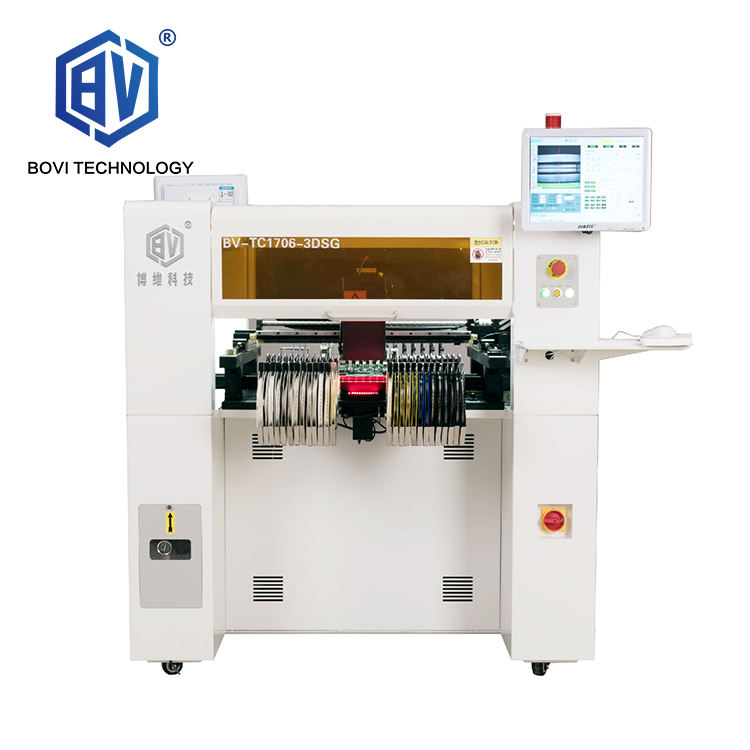Bovi Reliable Factory Supply 6 Heads LED SMT Pick And Place Machine Automatic PCB SMD Production