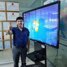 factory price LED LCD touch screen monitor smart tv display for schools