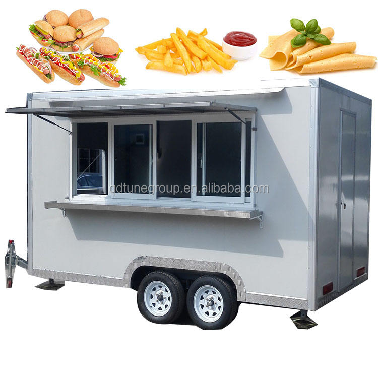 Mobile food truck 7.5ft dining car food trailer for europe vendors hotdog food cart