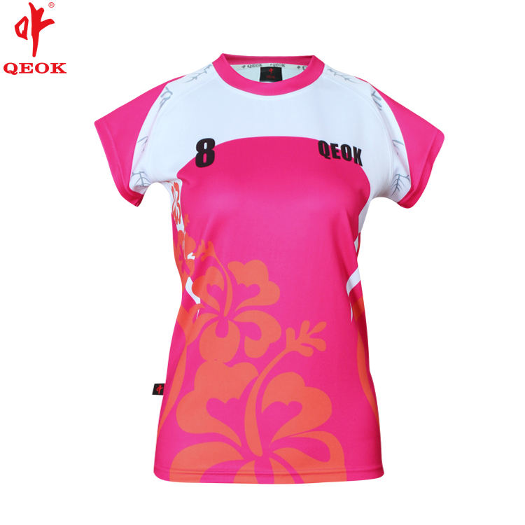 Ladies sublimation custom rugby jersey , cheap FIJI women rugby shirt