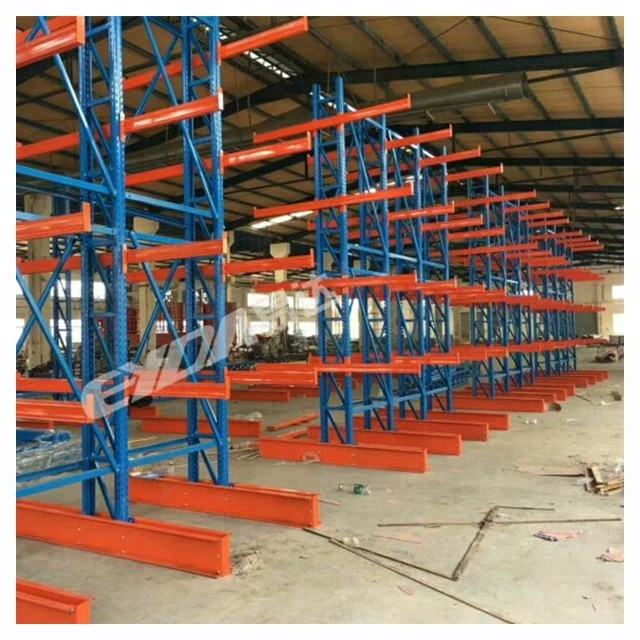 Heavy duty steel pipe storage cantilever rack