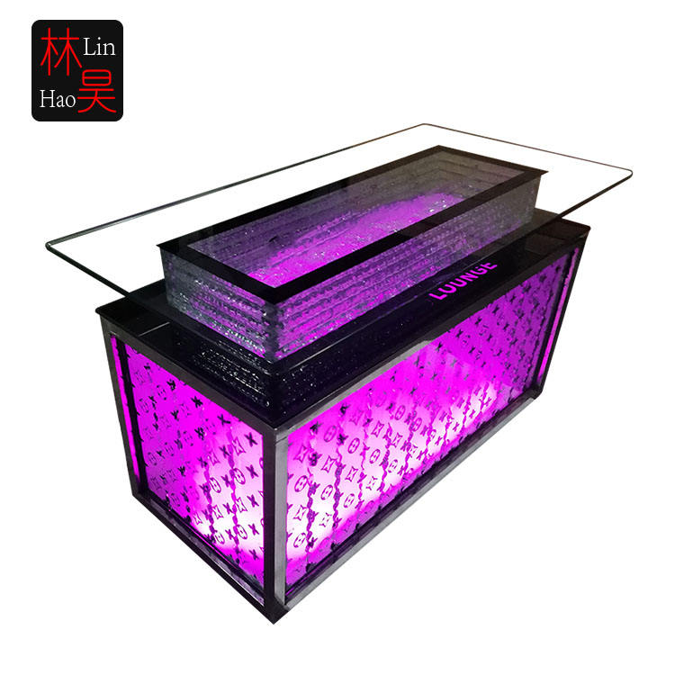 Roze paars kleur cocktail pub licht up night club glow led bar tafel nachtclub tafels en stoelen