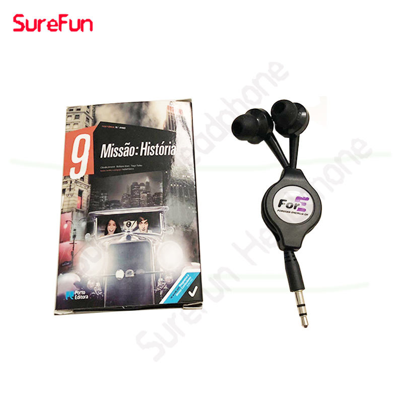 get free samples with branded case Promotional color gift earphone mini wired retractable earphone
