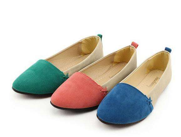 China import high quality fashion women flat shoes western nubuck upper leather matching ladies pointed shoes
