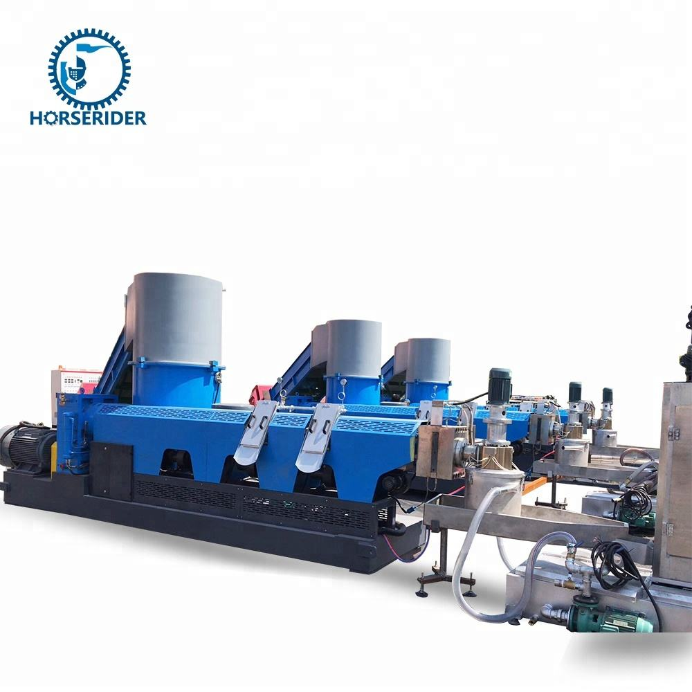 high efficiency double stage plc control system plastic pp woven bag recycling granulator machine