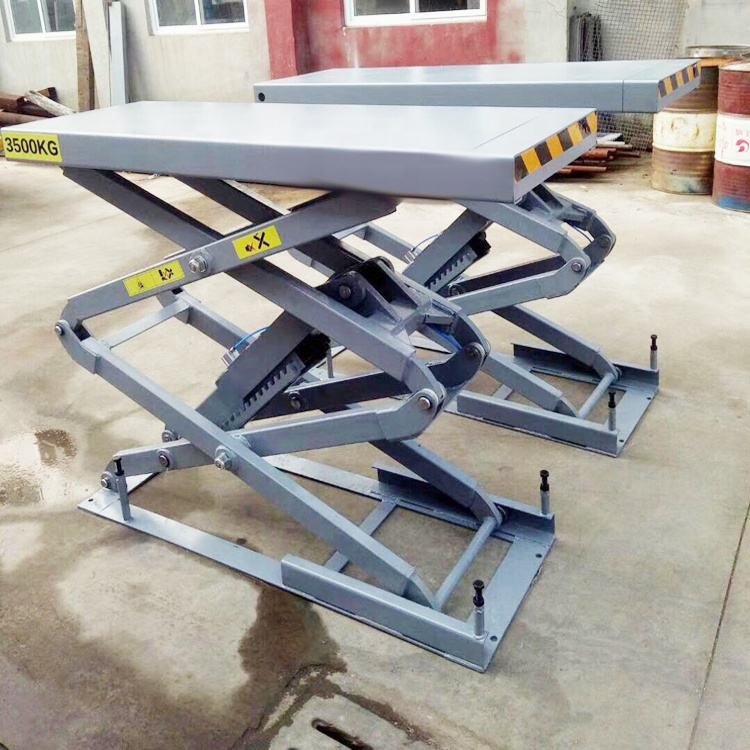 3.5T in-ground scissor lift with extend platform Model SP-K3500 3500kg scissor car lift