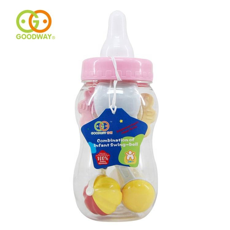 infant early learning hand bell baby plastic shake sound rattle toy