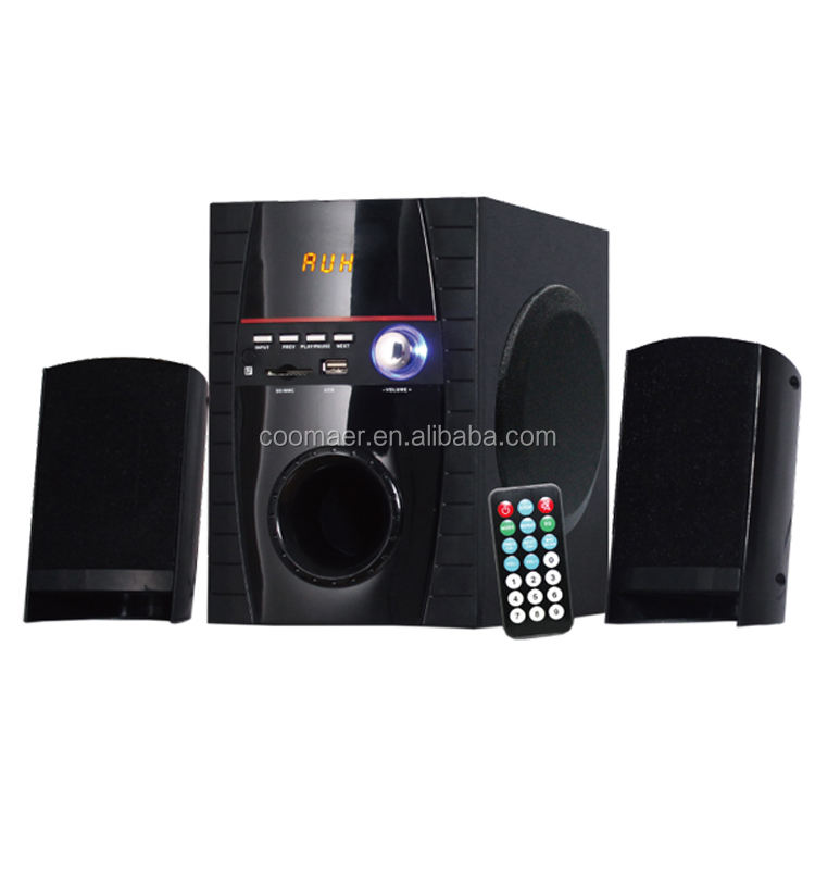4 Inch Woofer Portable USB SD FM Bluetooth 2.1 Mini Mp3 Laptop 20W Subwoofer Speaker Kotak