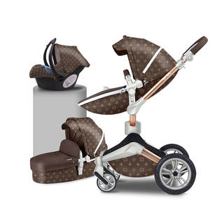 Free shipping China Hot Mom High quality baby stroller 3 in 1 luxury child pram with many colors for choice