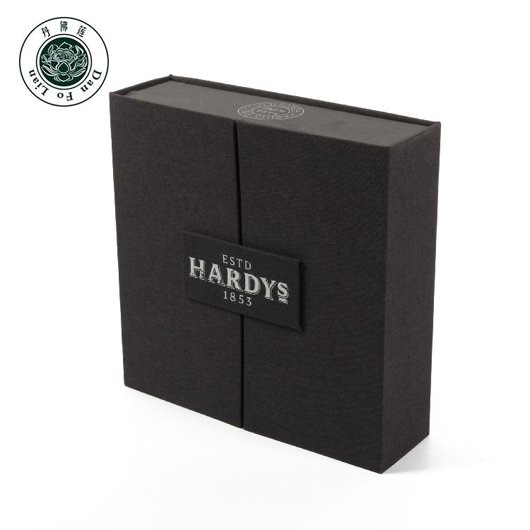 OEM square black magnet luxury wine boxes packaging magnetic closure antique sweet wine alcohol box