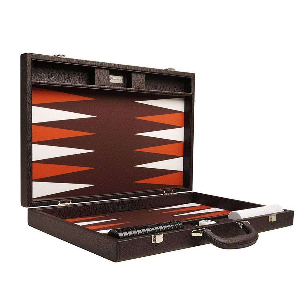 Hot verkoop Factory Outlet 19-inch Romantische Donkerbruin Premium Backgammon Board Game Set