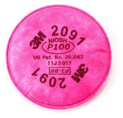 3M 2091 P100 Particulate Filter 7502 Mask Accessories