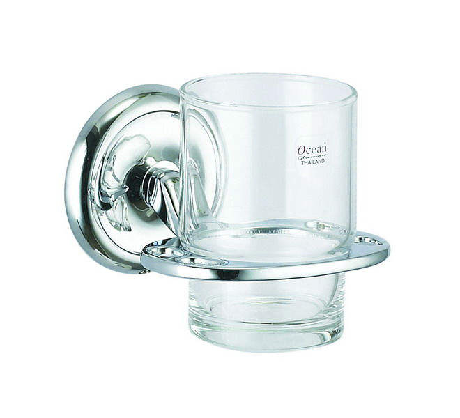 tumbler holder with glass or ceramic cup
