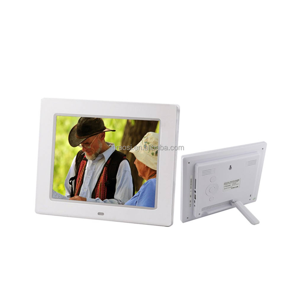 8inch blue english video film led digital photo frame with VESA hole