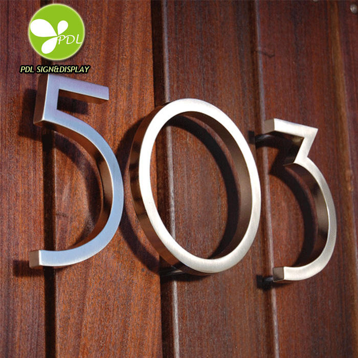 Modern Style House Numbers In Stainless Steel