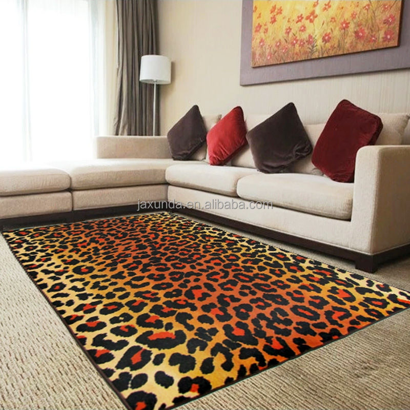Printed design latex back tiger carpet