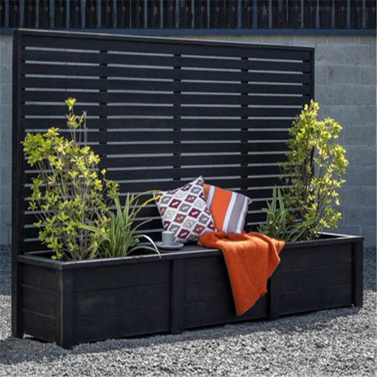 Customized Factory Wholesale Price Manufacturing Metal Planter Box with Trellis
