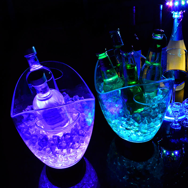 Night club waterproof color changing lighting ice led bucket