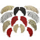 custom made iron on gold silver color sequin angel wings patch for clothes
